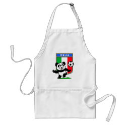 Apron with Italy Football Panda design