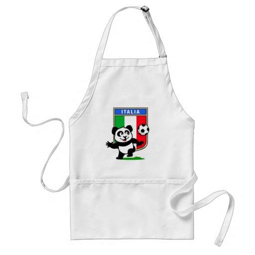 Italy Football Panda Adult Apron