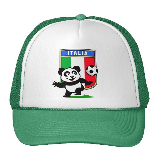 Italy Football Panda Hats