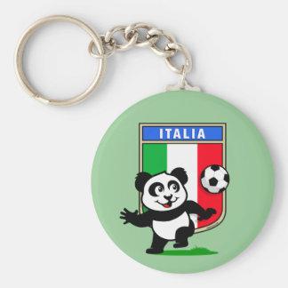 Italy Football Panda Keychain