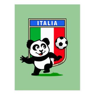 Italy Football Panda Postcard