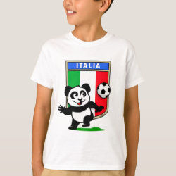 Kids' Hanes TAGLESS® T-Shirt with Italy Football Panda design