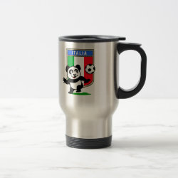 Italy Football Panda Travel / Commuter Mug