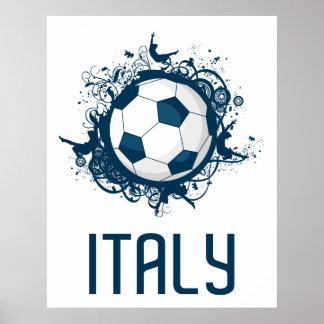 Italy Football Poster