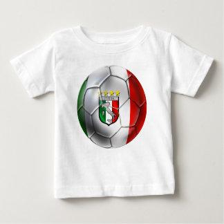 Italy Forza Azzurri Calcio Soccer Ball flag Baby T-Shirt