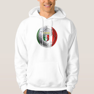 Italy Forza Azzurri Calcio Soccer Ball flag Hoodie