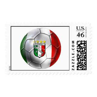 Italy Forza Azzurri Calcio Soccer Ball flag Stamps