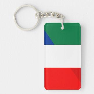 italy france flag country half symbol keychain