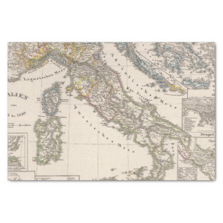 """Italy from 1270 to 1450 10"""" x 15"""" tissue paper"""
