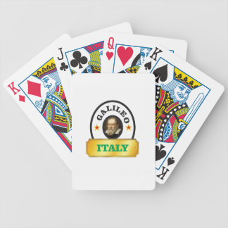 italy galileo bicycle playing cards