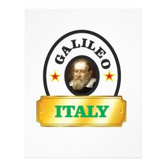 italy galileo letterhead