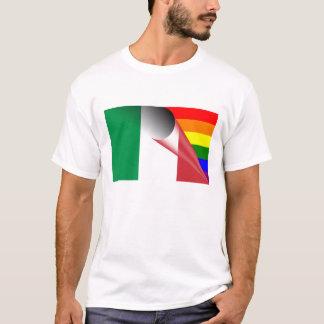 Italy Gay Pride Rainbow Flag T-Shirt