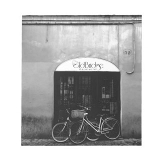 Italy Gelato Storefront with Bikes Notepad
