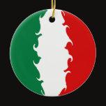 Italy Gnarly Flag Ceramic Ornament