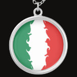 Italy Gnarly Flag Silver Plated Necklace