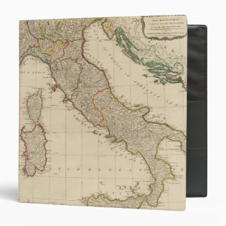 Italy hand colored Atlas Map 3 Ring Binder