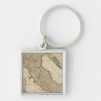 Italy hand colored Atlas Map Keychain
