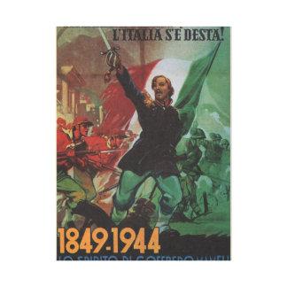 Italy has awakened  Propaganda Poster Canvas Print