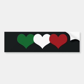 Italy Heart Car Bumper Sticker