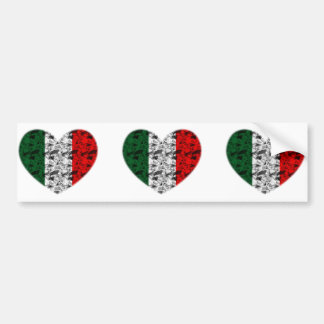 Italy Heart Bumper Sticker