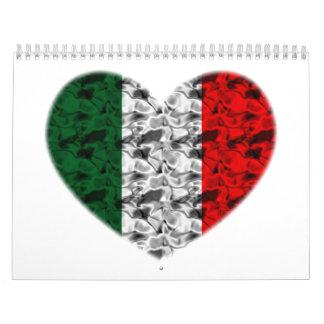 Italy Heart Calendar