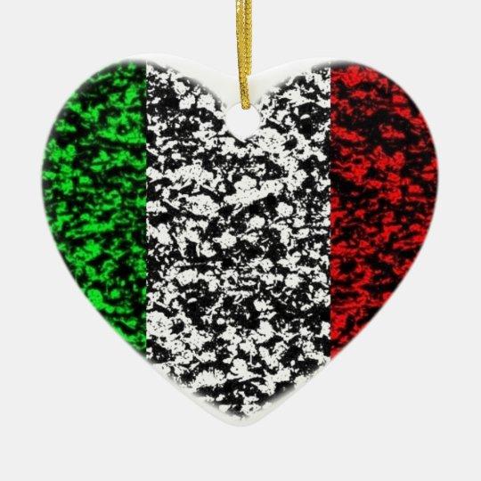 Italy Heart Ceramic Ornament