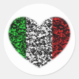 Italy Heart Classic Round Sticker