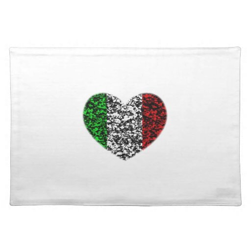 Italy Heart Cloth Placemat
