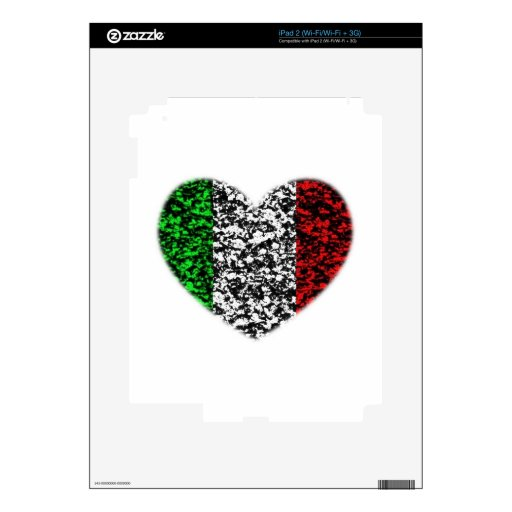 Italy Heart Decals For The iPad 2