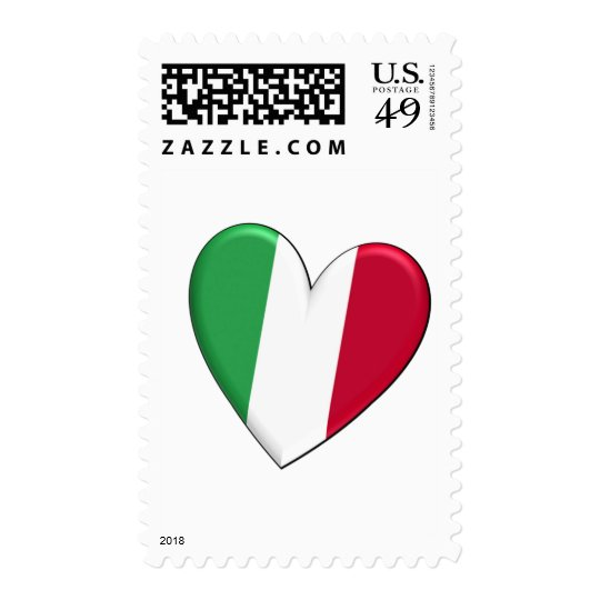 Italy Heart Flag Postage