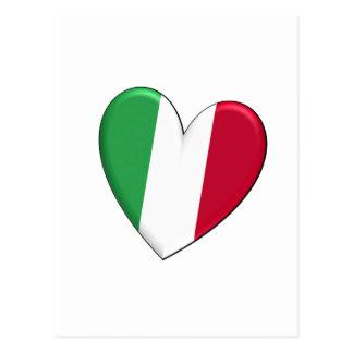 Italy Heart Flag Postcard