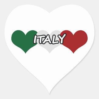 Italy Heart Heart Sticker