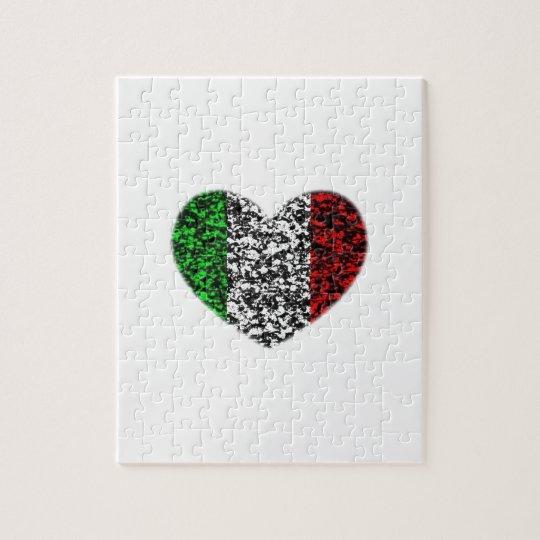 Italy Heart Jigsaw Puzzle