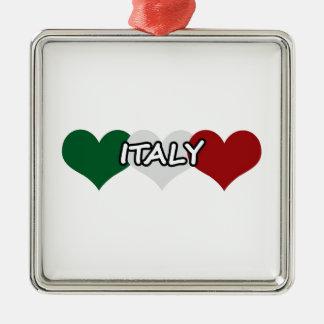 Italy Heart Metal Ornament