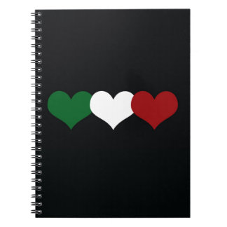 Italy Heart Spiral Notebook