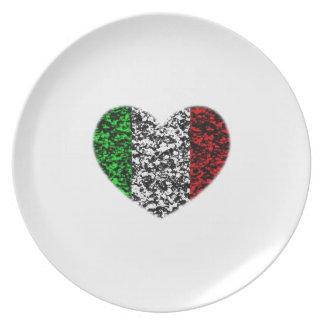 Italy Heart Dinner Plate