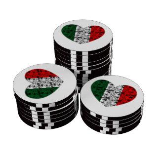 Italy Heart Poker Chips Set