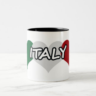 Italy Heart Two-Tone Coffee Mug