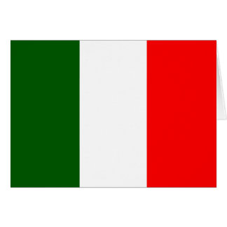 Italy High quality Flag Greeting Card