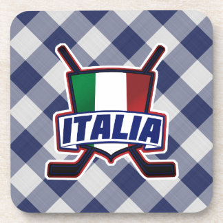 Italy Hockey su Ghiaccio Drinks Mats Drink Coaster