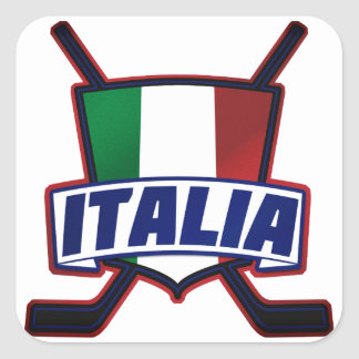Italy Hockey su Ghiaccio Square Sticker