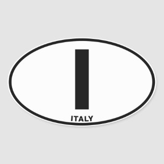 Italy I Oval ID Identification Code Initials Stickers