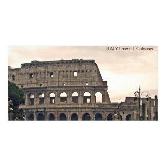 ITALY I rome I Colosseo Custom Photo Card