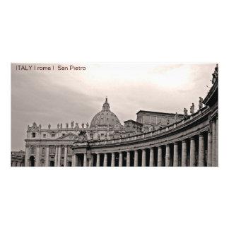 ITALY I rome I San Pietro Customized Photo Card