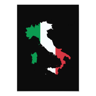Italy in Flag Colors 5x7 Paper Invitation Card