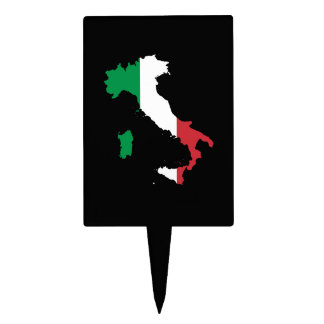 Italy in Flag Colors Cake Topper