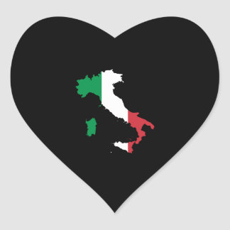 Italy in Flag Colors Heart Sticker