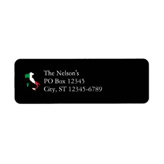 Italy in Flag Colors Label