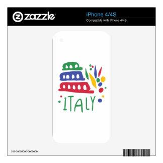 Italy iPhone 4S Decals