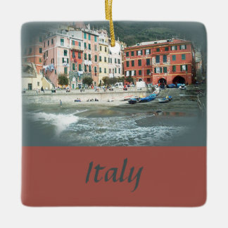 Italy is for Lovers Ceramic Ornament